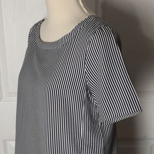 Banana Republic scoop neck striped blouse